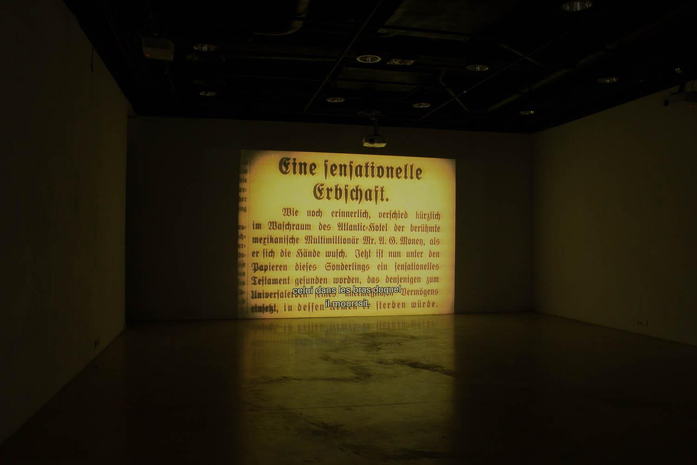 <em>Hier sollte der Film eigentlich enden</em>,  <br>2012-14 <br>vidéo (couleur et son) <br>5'
