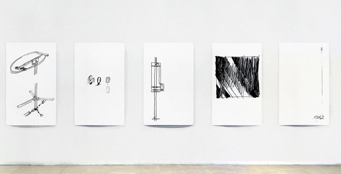 <em>Desseins</em>, 2015 <br>série, impression jet d'encre sur papier, <br>90 x 150 cm