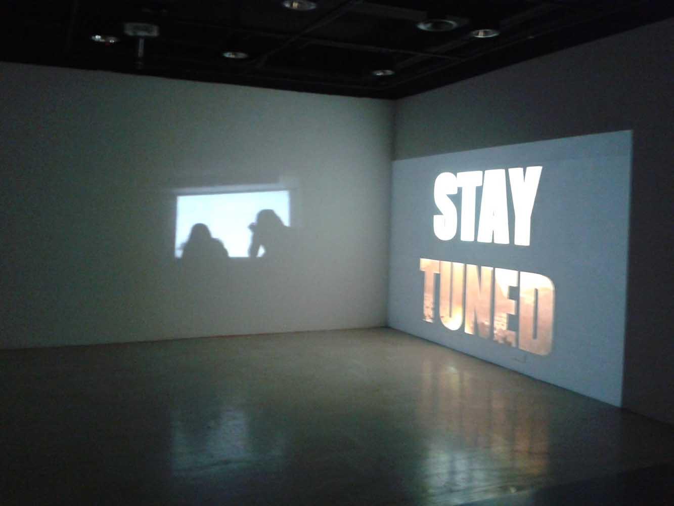 vue de l'installation vidéo