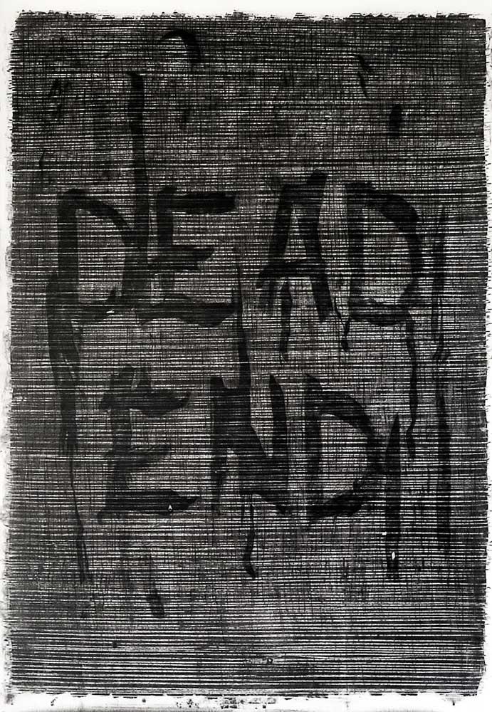 <em>Sead End</em>, 2014 <br>fusain <br>150 x 210 cm