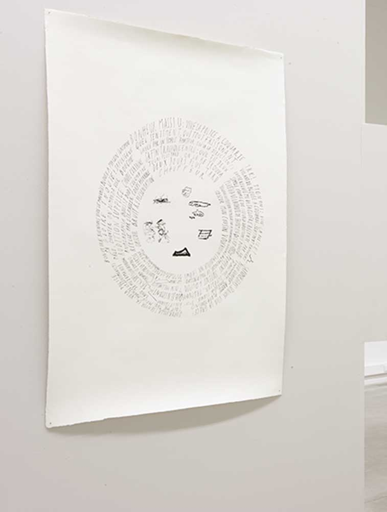 <em>Bonheur Massiu</em>, 2014 <br>sérigraphie sur Velin d'Arches <br>56 cm