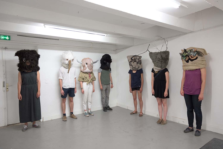 Les Personnages, 2015 performance, masques