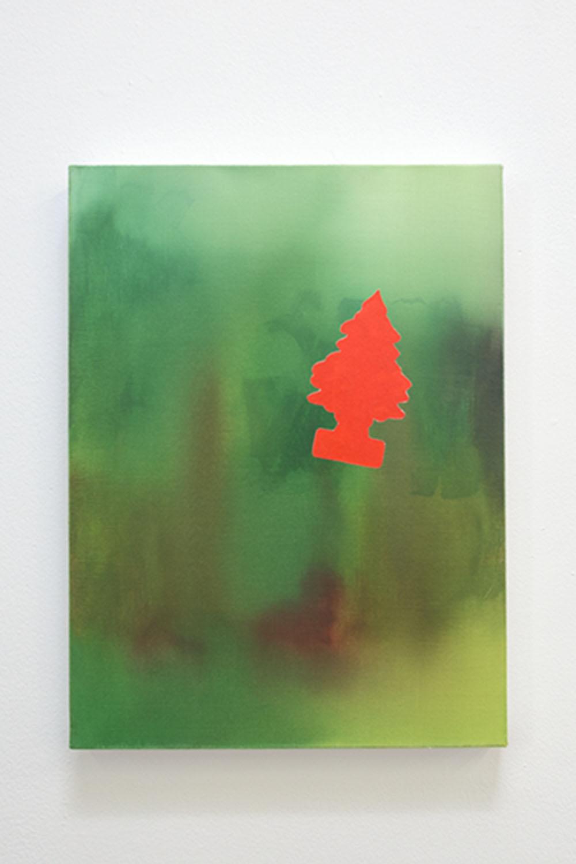<em>Dimanche</em>, 2015 <br>acrylique sur toile <br>30 x 40 cm