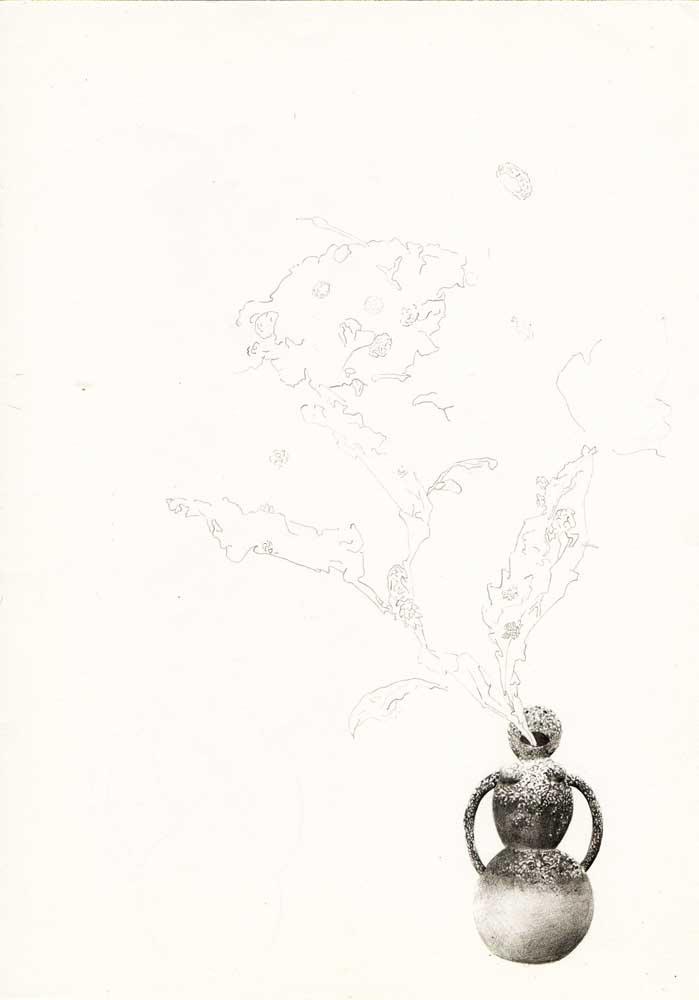 sans titre, 2014 <br>crayon sur papier